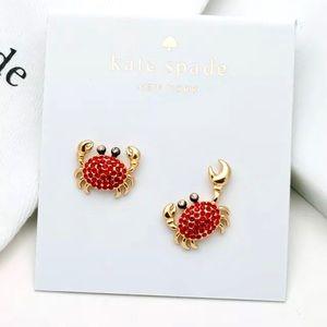 Kate Spade   Shore Thing Pavé Crab Stud Earrings